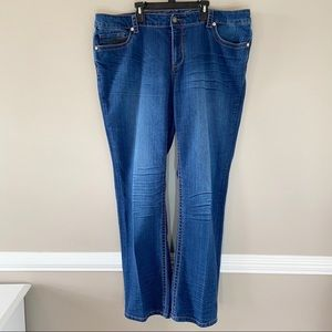 Seven7 High Rise Mid Wash Bootcut Jeans Size 22